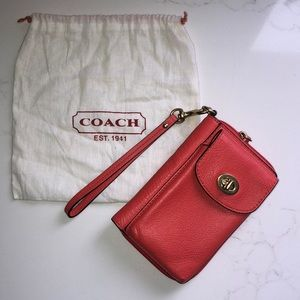 COACH cellphone wallet/wristlet
